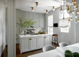 Grey Shaker Kitchen Cabinets Gray Shaker Kitchen Cabinets With Brass Inset Hardware
