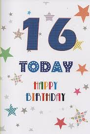 birthday age cards 16 today happy birthday