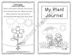 my plant journal for young learners from kindergarten kids at play