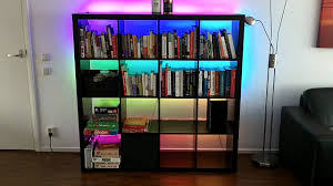 bookcase inspiring lighted bookcase lighting on top of bookcase