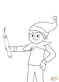 free printable coloring pages of elves elf on the shelf with pencil coloring page free printable coloring