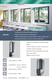 ce standard aluminium casement window with blind inside double