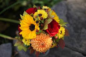 sunflower wedding bouquet fall mixed wedding bouquets bb0385 fall sunflower bridal bouquet