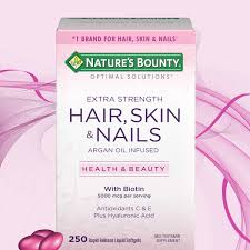 nature u0027s bounty hair skin and nails 250 softgels