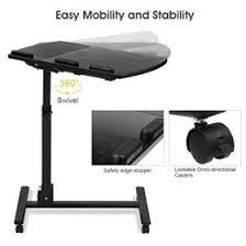 Swivel Computer Desk Langria Laptop Table Height Adjustable Mobile Laptop Stand Desk