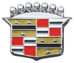 logo cadillac restoparts cadillac trunk lock emblem 1964 68 crest opgi com
