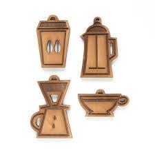 coffee ornaments set scotch and