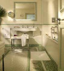 Country Bathroom Decorating Ideas Bathroom Set Ideas With Cool Green And White Mosaic Floor Tile