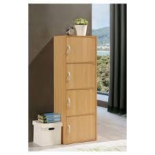 hodedah 4 door cabinet storage cabinet hodedah import target