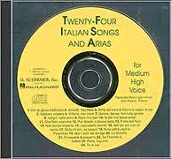 24 italian songs arias medium high voice accompaniment cd