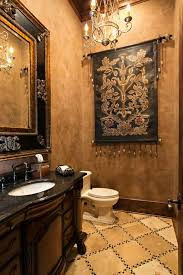 half bath design with faux finish walls added hanging picture