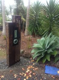 railway sleeper letterbox has my number on it home pinterest