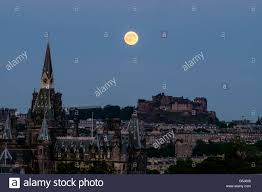 Strawberry Moon Strawberry Moon On Summer Solstice Over Edinburgh Castle Scotland