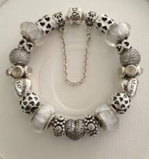 themed bracelets white pandora the symmetry of charms and diversity of