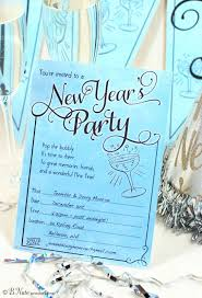New Year Invitation Card Free New Year U0027s Party Printables From B Nute Productions Catch