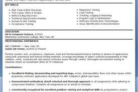 Testing Resume Qa Testing Resume Lukex Co