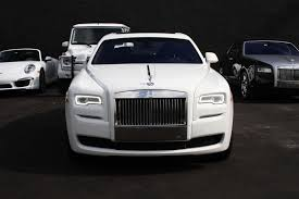 rolls royce gold and white rolls royce ghost south beach exotic rentals