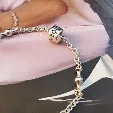 pandora silver clip bracelet images Pandora silver five clip station bracelet tradesy jpg