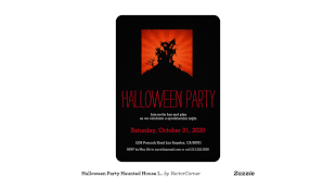 haunted house creepy halloween party invitations on flipboard