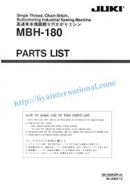Sewing Machine Parts Diagram Worksheet Juki Mbh 180