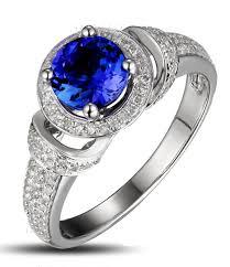 nouveau engagement rings vintage 1 50 carat blue sapphire and nouveau