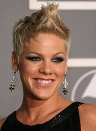 bad old lady haircuts celebrity faux hawk hairstyle i just adore pink and would love to