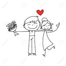 dessin mariage dessin à la de dessin animé amoureux heureux mariage clip