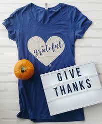 grateful navy blue tshirt gratitude thanksgiving