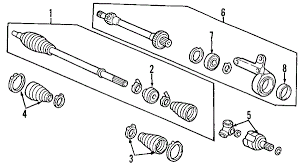 honda crv parts 2004 parts com honda driveshaft assy r partnumber 44305s9an00
