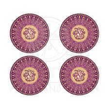 Wedding Invitation Hindu Ganesh Purple Wedding Envelope Seals Hindu Ganesh Purple Fuchsia Gold