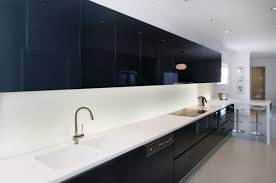 black white kitchen black kitchen cabinet design with white laminated countertop and