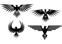 4 eagle symbol tattoo style vector graphics download free vector