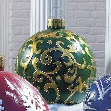 Christmas Yard Decorations Frontgate by Giant Finial Reflector Fiber Optic Ornament Outdoor Christmas