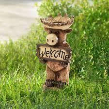 sunjoy welcome moose statue reviews wayfair