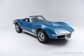 vintage corvette blue 1968 chevrolet corvette stingray c3 convertible classic cars blue