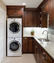 Laundry Room Sink Cabinet by Seattle Stackable Washer Dryer Laundry Room Contemporary With Wall