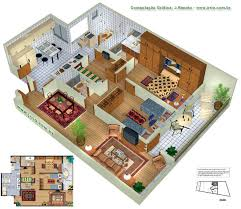 Floor Plan Renderings Furnished 3d Floor Plan Rendering Apartments