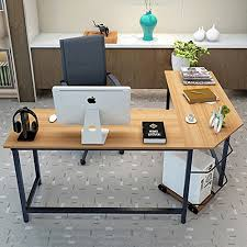 wood l shaped computer desk tribesigns modern l shaped desk corner computer desk pc latop study