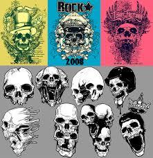 trend skull vector material free web