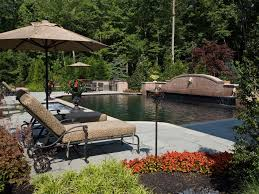 Mediterranean Backyard Landscaping Ideas Mediterranean Makeover With Pool And Outdoor Living Space