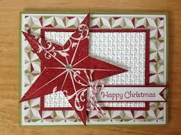 stampin up handmade christmas card red u0026 sparkle christmas star