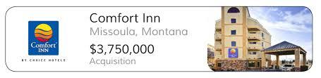 Comfort Inn Missoula Mt Premier Capital Associates
