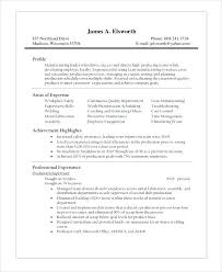 sample resume for production operator roles and responsibilities