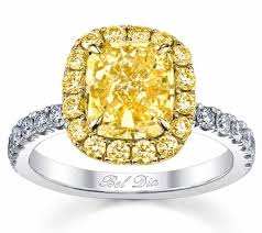 canary yellow engagement rings yellow halo engagement ring for canary