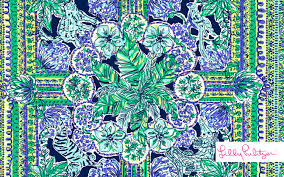 lilly pulitzer palm tree wallpaper