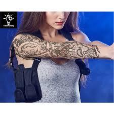 women temporary tattoo sleeve steampunk tattoo biomechanical