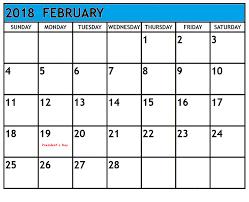 february us holidays 2018 calendar free printable calendar templates