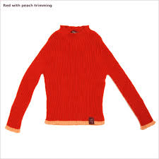 children s fisherman s sweater in royal alpaca ribbed crew neck