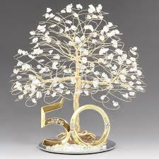 50th cake topper 50th anniversary cake topper tree sculpture tree cake toppers