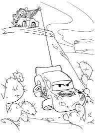 coloring pages mcqueen tow mater helping lighting coloring pages lightning mcqueen and mater coloring pages to